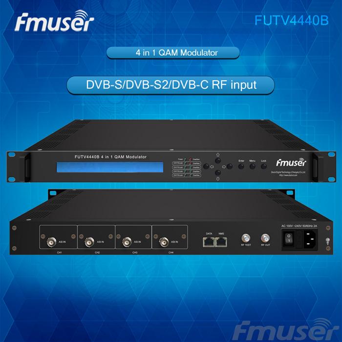 4 in 1 QAM Modulator Optional 4*ASI / 4*QAM / 4*DVB-S tuner / 4*DVB-S2(China (Mainland))