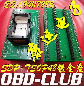 Gold plated IC test adapter conversion base burning SDP-UNIV-48TS/SDP-TSOP48-2 transposon(China (Mainland))