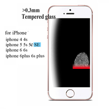 2.5D 0.3mm Premium Tempered Glass Screen Protector for iPhone 6 6s 5 5s 5se 4s 7 Toughened protective film For iPhone 6