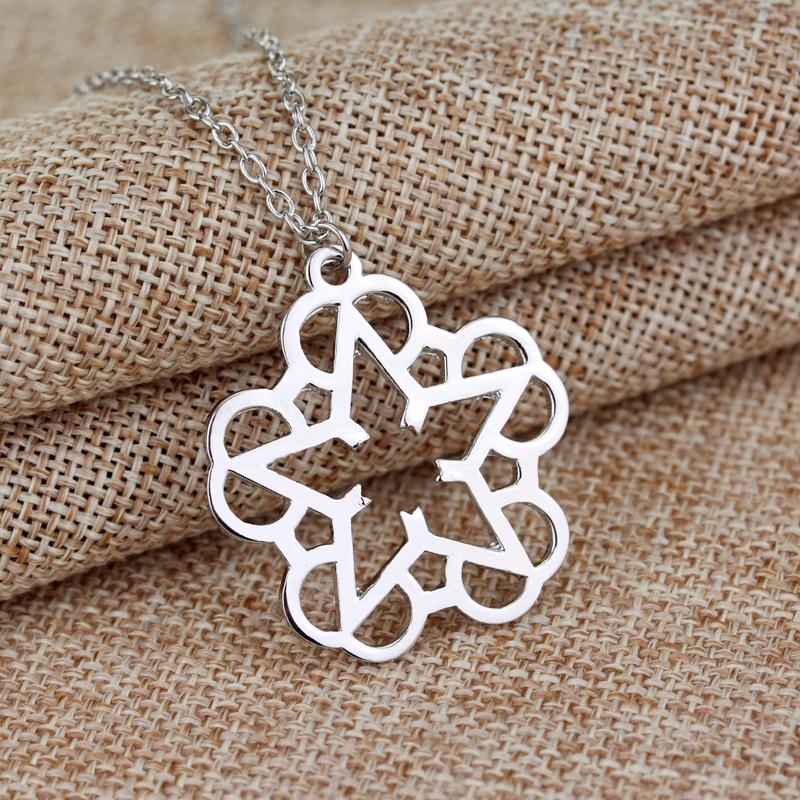 French Romantic style Rock Band Black Veil Brides necklaces pendants stars & flower shape maxi long necklace Wedding Brand gift(China (Mainland))