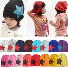 Christmas Star Printed New Newborn cotton infant hats Toddler Girl Boy Hat Baby Cap Cute Beanie Cotton Kid Hats 17 Colors W1(China (Mainland))
