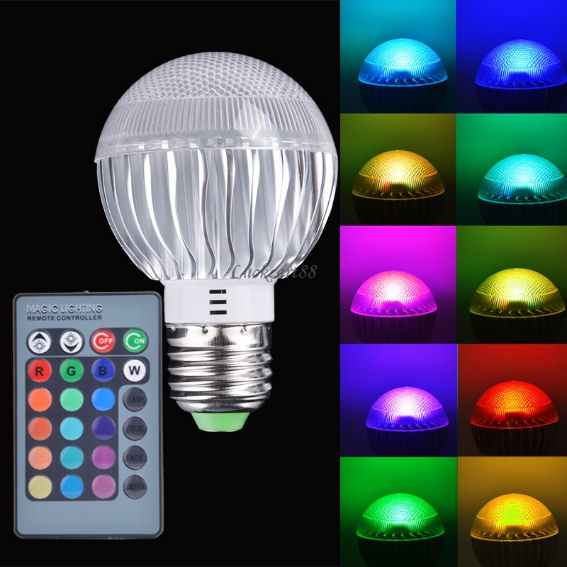 new e27 15w rgb led light color changing lamp bulb 85 265v. Black Bedroom Furniture Sets. Home Design Ideas