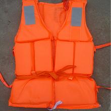 Orange Prevention Flood Fishing Rafting Drift Sawanobori Adult Foam Life Jacket Vest Flotation Device + Survival Whistle 1pc(China (Mainland))