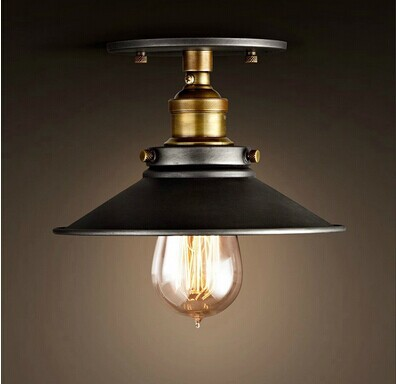 American country retro creative loft ceiling lamps,E27*1 Bulb Included,Vintage light for balcony corridor aisle bar Coffee Hall<br><br>Aliexpress