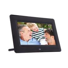 "Hot Sale 7"" Smart HD LCD Digital Photo Frame with Alarm Clock Slideshow MP3/4 Player 110-240V"