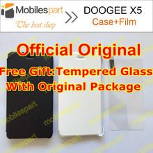 Doogee X5 Pro чехол 100% оригинальная официальная флип кожаный чехол крышка + закаленное стекло для DOOGEE X5 смартфон бесплатная доставка