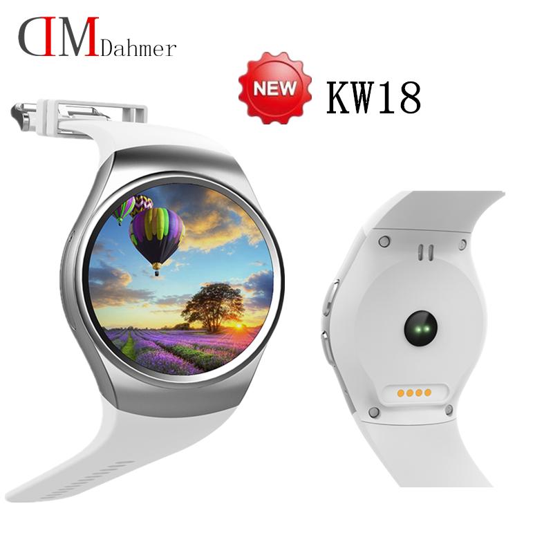 2016 original KW18 Smart Watch Android/IOS Digital-watch Bluetooth Reloj Inteligente SIM Round Heart Rate Monitor PK X3 X5 K18(China (Mainland))