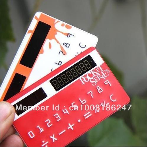 Wholesale 50pcs/lot Doulex creative mini portable solar control slim card calculator,free shipping