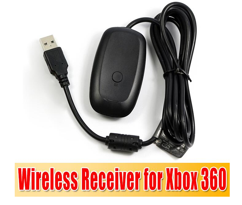 20pcs For xbox360 New Black white PC USB Gaming Receiver For Microsoft Xbox 360 Wireless Controller Free Shipping(China (Mainland))
