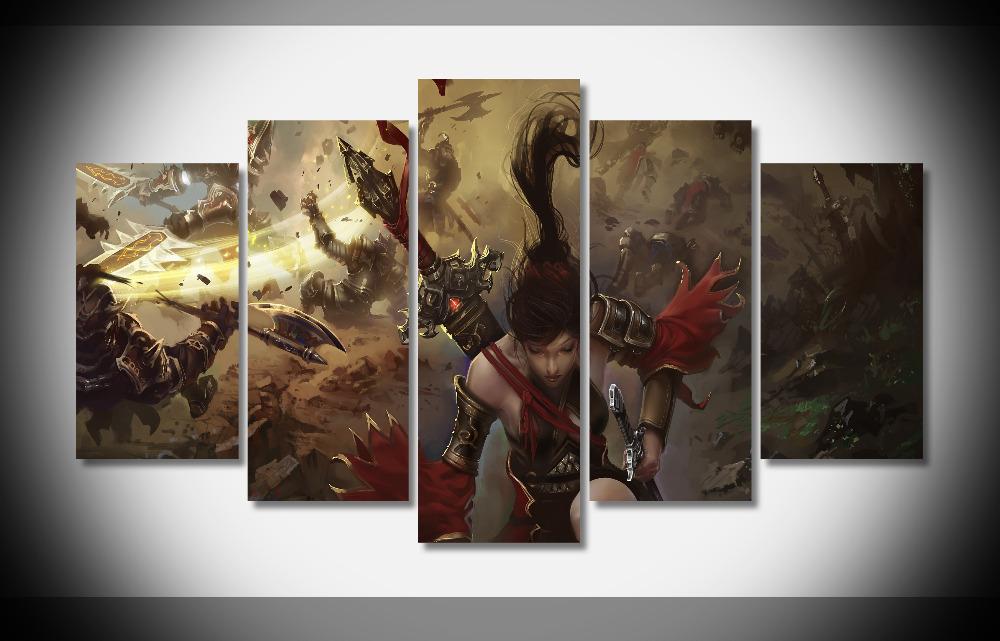 6579 WORLD Of LEGEND action fighting artwork warrior adventure martial arts samurai - gallery wrap art print home canvas decor(China (Mainland))