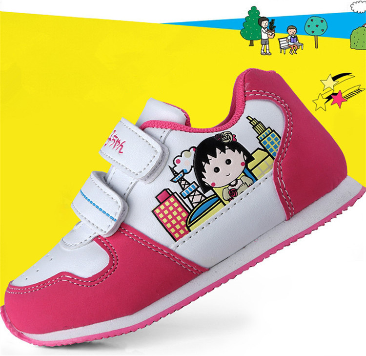 Japan Famous Brand Children Big Girl Cute Pretty Chibi Maruko Chan Girls Shoes Kids Sport Running Shoes Girl Imported Sneakers(China (Mainland))