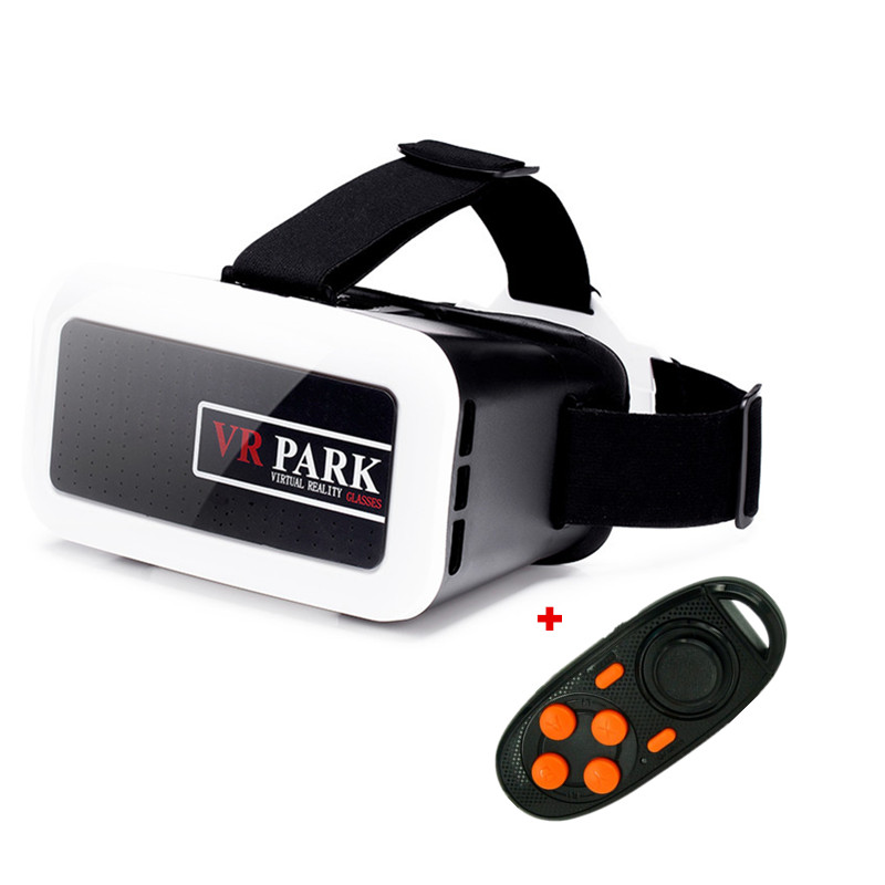 New VR 3D Glasses Plastic VR Box Virtual Reality Google Cardboard Glasses Phone 3D Movie/Immersive Games +Bluetooth Controller(China (Mainland))