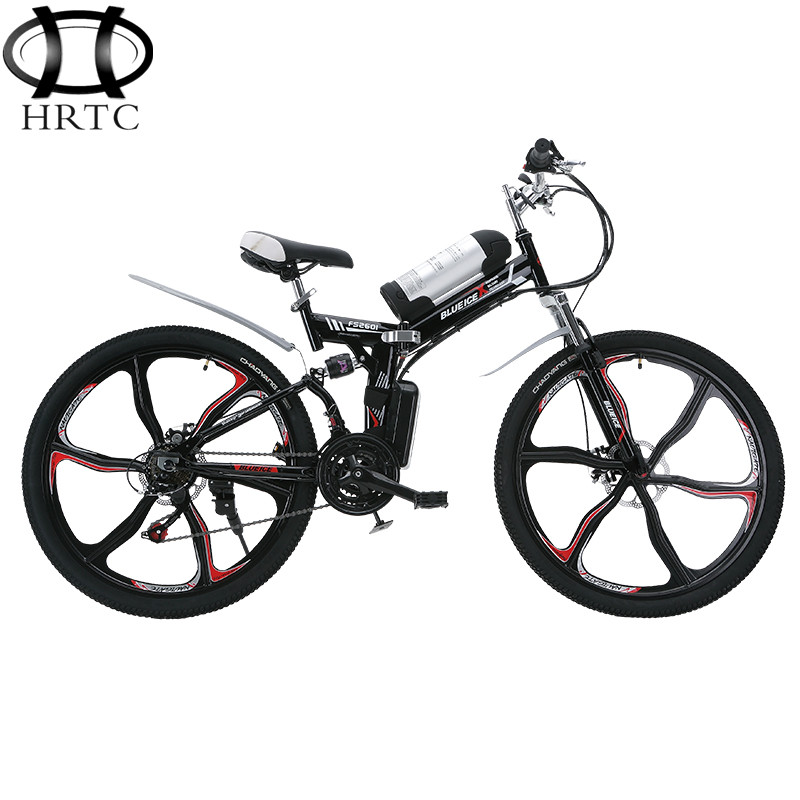 Free shipping 26 inches 350w motor mountain electric bicycle lithium battery power ECU folding bicycles instead of walking bike(China (Mainland))