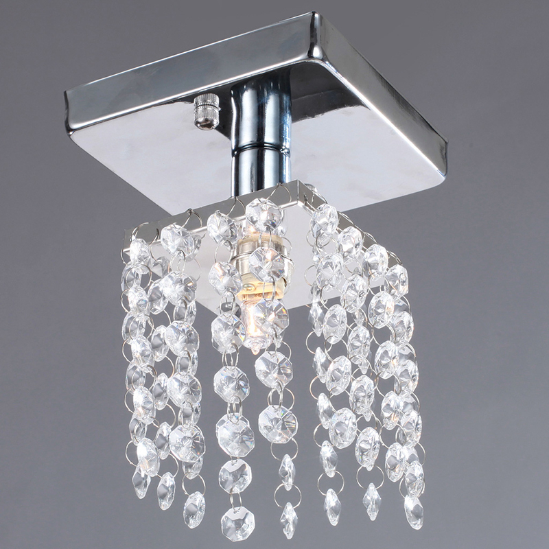 free shipping mini semi flush mount in crystal chandelier