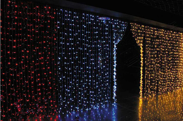 220V LED waterfall light Christmas Lights 6m*3m 880LED With 8 Modes for Holiday/Party/Decoration curtain background light EU US(China (Mainland))