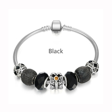 New Year Gifts Silver Bracelet European Glass Charm Beads Fit Pandora Bracelets For Women Jewelry Pulseira Masculina(China (Mainland))