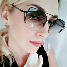 Buy Fashion Metal Frame Cat eye Sunglasses Women Original Luxury Brand Designer Sun Glasses Female vintage Oculos De Sol Feminino for $6.39 in AliExpress store