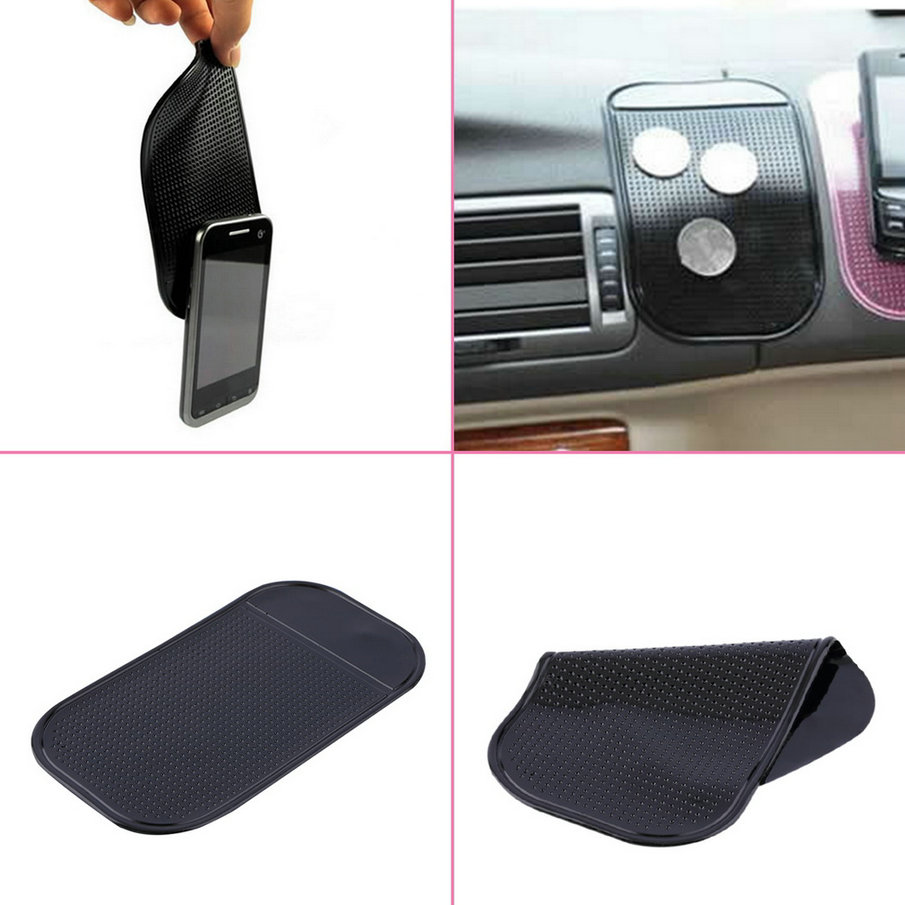 1PC Black Car Dashboard Sticky Pad Silica Gel Magic Sticky Pad Holder Anti Slip Mat For