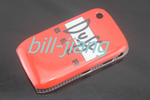 Red Duff beer Pattern Shell Case Hard Back Cover Skin Case For Blackberry curve 8520 1pc/lots by post(China (Mainland))