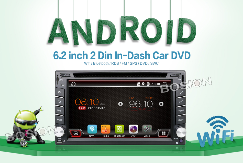 In Dash Universal Double 2 Din Pure Android Car DVD player GPS+Wifi+Bluetooth+Radio+2GHZ CPU+DDR3+Touch Screen+3G+Car PC+Audio(China (Mainland))