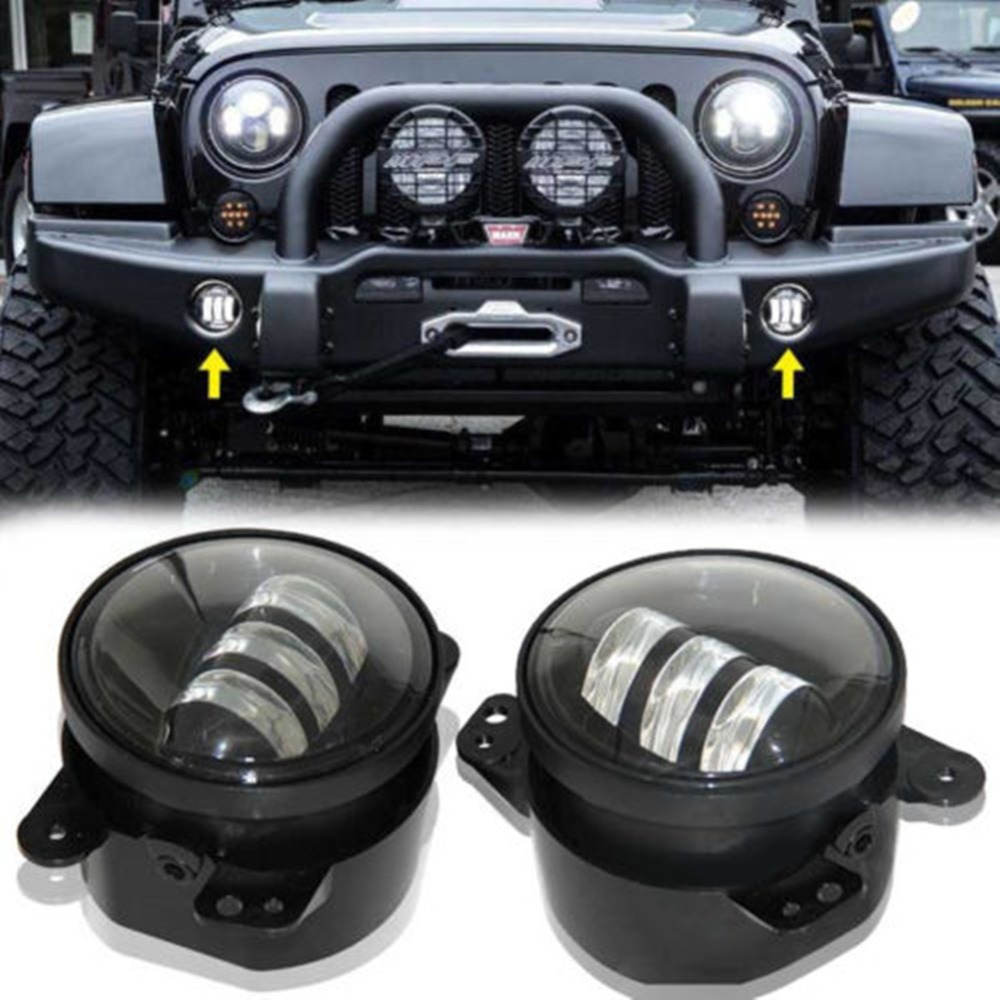 buy favor led 4 light for 2007 2014 jeep. Black Bedroom Furniture Sets. Home Design Ideas