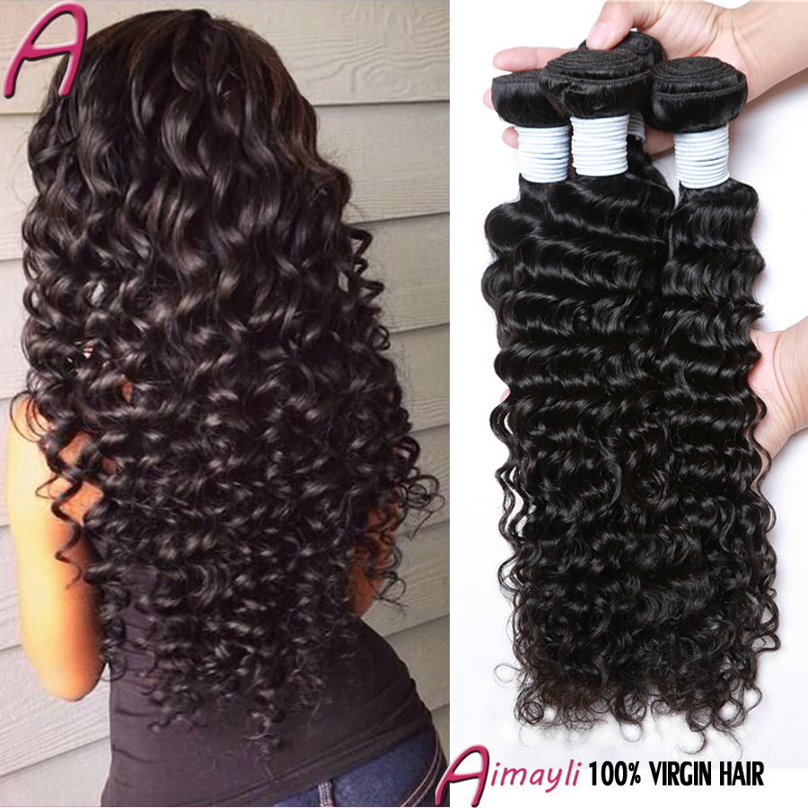 Queen Hair Products Brazilian Deep Wave 4 Bundles 100G 8-28 Inch 7A Brazilian Deep Curly Virgin Hair Sexy Formula Human Hair<br><br>Aliexpress