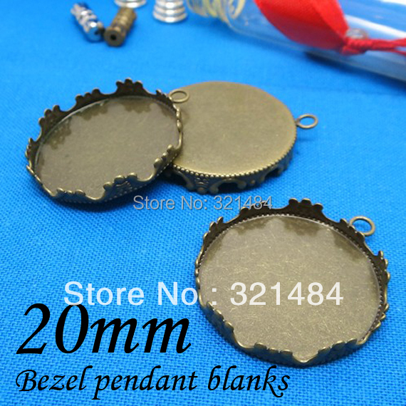 Bulk 200piece/lot Antique bronze 20mm Crown Edge Earring/Pendant Base Bezel Blanks Tray Setting<br><br>Aliexpress
