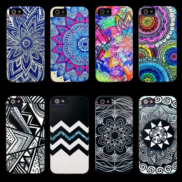 Hot Aztec Mandala Flower Colorful Cute Cover Phone Case for iPhone 4 Case for iphone 4s Case(China (Mainland))