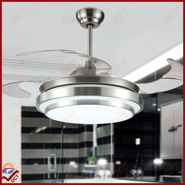Modern 85 265V Led Quiet Luxury Folding Ceiling Fan Light And Remote Living B