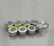 [SKU 521] 6mm length Aluminum spacesr for building CNC machine OD 10mm ID 5mm bore 100pcs Free Shipping(China (Mainland))