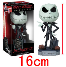 The Nightmare Before Christmas Funko Pop Toys ABS Jack Skellington Toys Anime Figure 16cm Moving Head Action Figure Brinquedos t