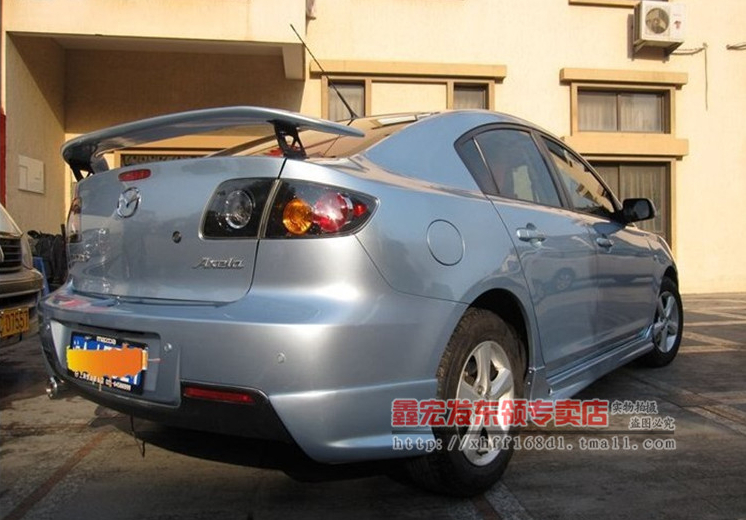 ABS Spoiler Wing for Mazda 3 2006 2007 2008 2009 2010 .Primer Unpainted(China (Mainland))