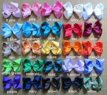 Free Shipping!$15/40Pcs 25 Colors 4 Inches Grosgrain Ribbon Baby Girls' Bows With 4.5cm Clips Boutique Bows Hair Accessories