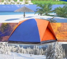 Camping tent  Windproof and waterproof  3-4 people  Outdoor folding tent