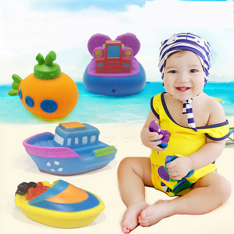 Safe Rubber Baby Bath Toys For Kids Boys Girls Educational Toys Squeeze-sounding Dabbling Toy Swimming Pool Water Spray Toys(China (Mainland))