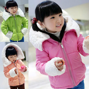 Free shipping Winter new childrens wear girls upset the lambs wool candy color girl cotton-padded clothes coat<br><br>Aliexpress