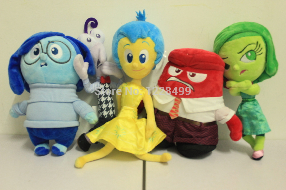 5pcs/lot Pixar Movie Inside Out Plush Toys Stuffed Doll Anger Joy Fear Disgust And Sadness for Kids Gift