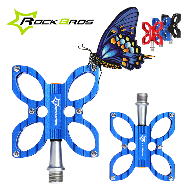Butterfly Pedal Pedales Ciclismo 2015 RockBros Mountain Bike Pedal Cycling Bicycle Parts Road Ultralight Aluminum Black Blue Red