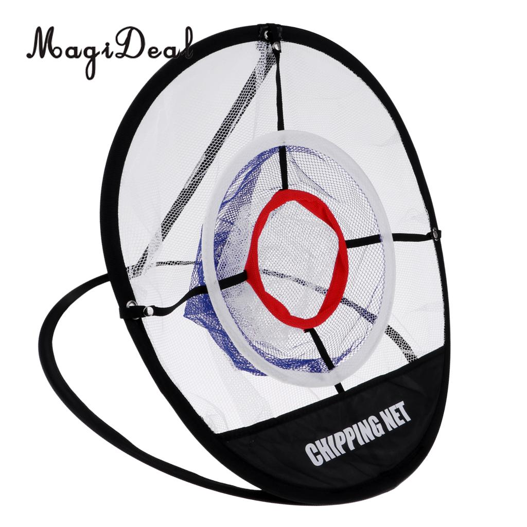Portable Pop up Golf Chipping Pitching Practice Net Golfer Training Aid Tool Storage Easy Foldable with Carry Bag