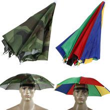 Umbrella Hat Sun Shade Camping Fishing Hiking Festivals Outdoor Brolly(China (Mainland))