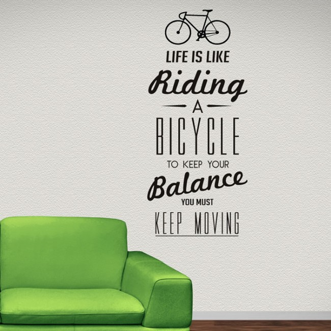 Wall Art Quotes About Life : Aliexpress buy life quote wall sticker vinyl