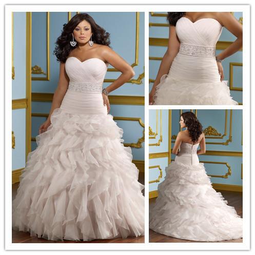 style sweetheart tiered plus size modern wedding dresses 2014 robe de mariee backless