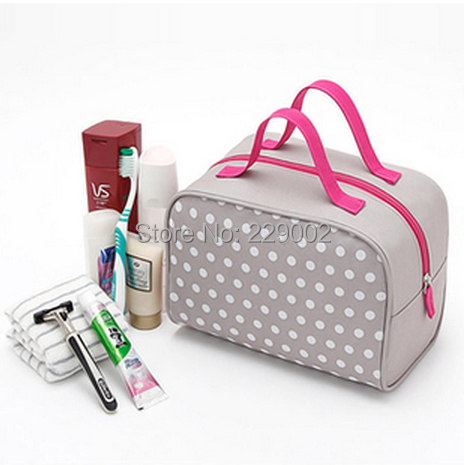 New Arrival Women Print Travel Products Waterproof Wash Cosmetic Makeup Storage Box Bag Case Purse Christmas Gift Free Shipping(China (Mainland))