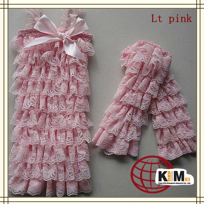 Baby Fariy Girl Petti Rompers Lace Satin Multicolor Romper With Lace Leg Warmers 24 set / lot<br><br>Aliexpress