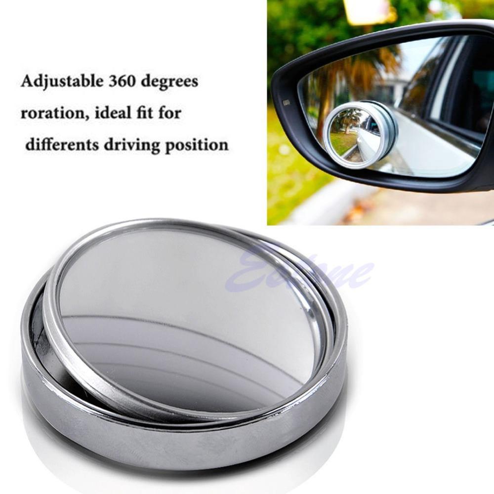 Grand angle convexe car auto cspot round stick sur vue for Gros miroir rond