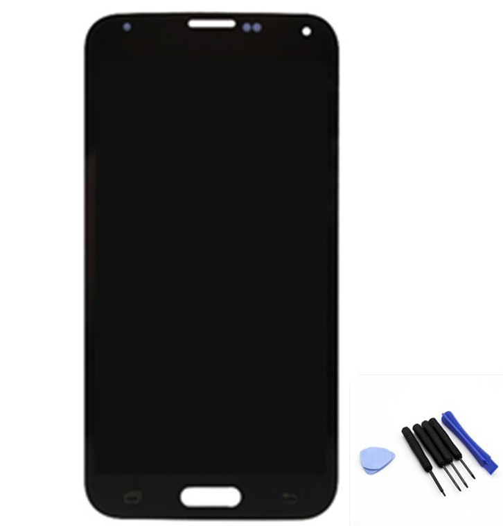 Black I9600 LCD display +touch screen digitizer assembly +tools for samsung galaxy S5 I9600, free shipping!(China (Mainland))