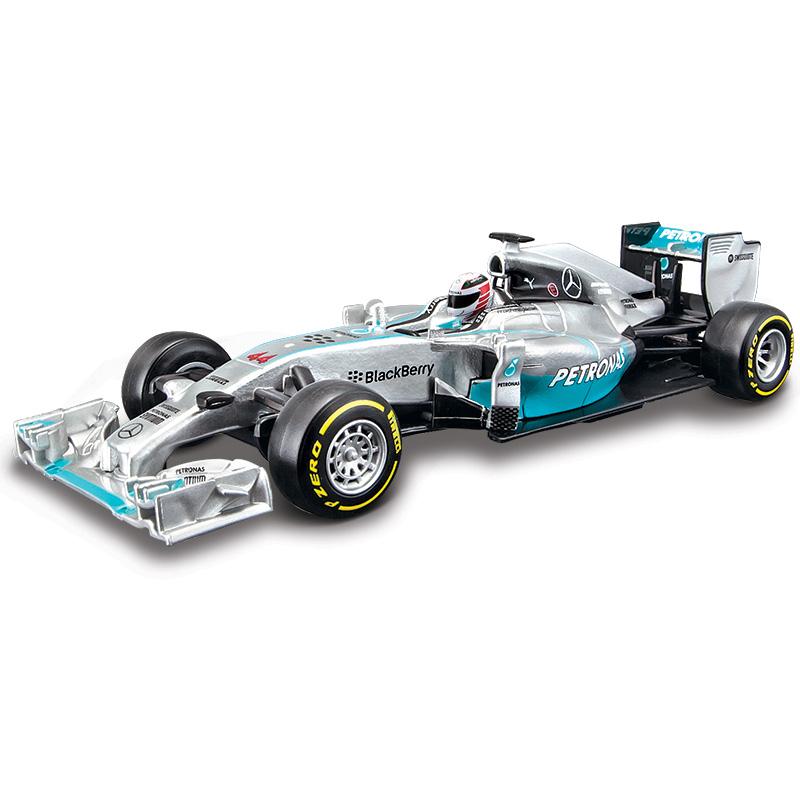 BBurago 1:32 F1 - AMG racing w05 hybrid #44 lewis hamilton #6 Nico Erik Rosberg Free Shipping(China (Mainland))