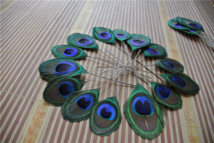 Buy free shipping 100 pcs lot peacock for Where can i buy peacock feathers craft store
