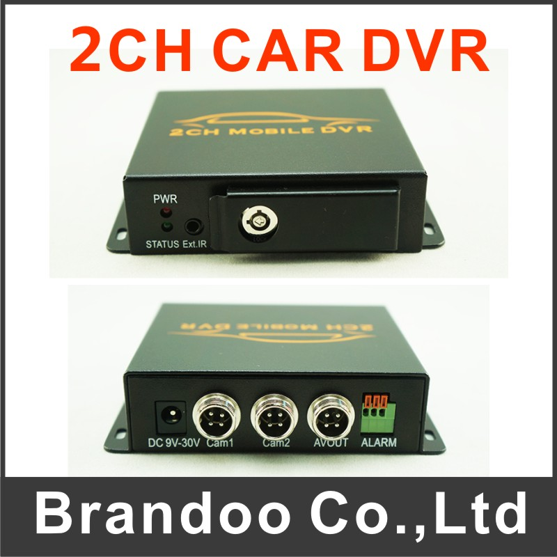 Free shipping 2CH CAR DVR for taxi,bus,trainning car used, auto recording, DIY installation(China (Mainland))