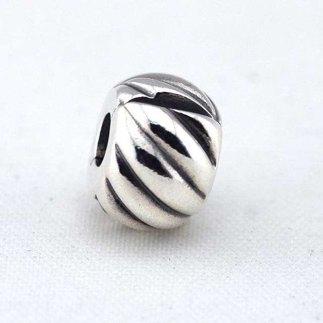 Осень стиль стерлингового серебра 925 пробы украшения пернатый клип бусины Fit пандора оригинальный подвески браслеты DIY ювелирных украшений